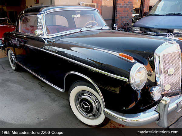 Front View 1958 Mercedes Benz 220S Coupe